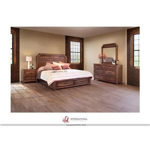 International Furniture Direct Regal Queen Storage Bed