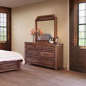 International Furniture Direct Regal Dresser and Mirror Set