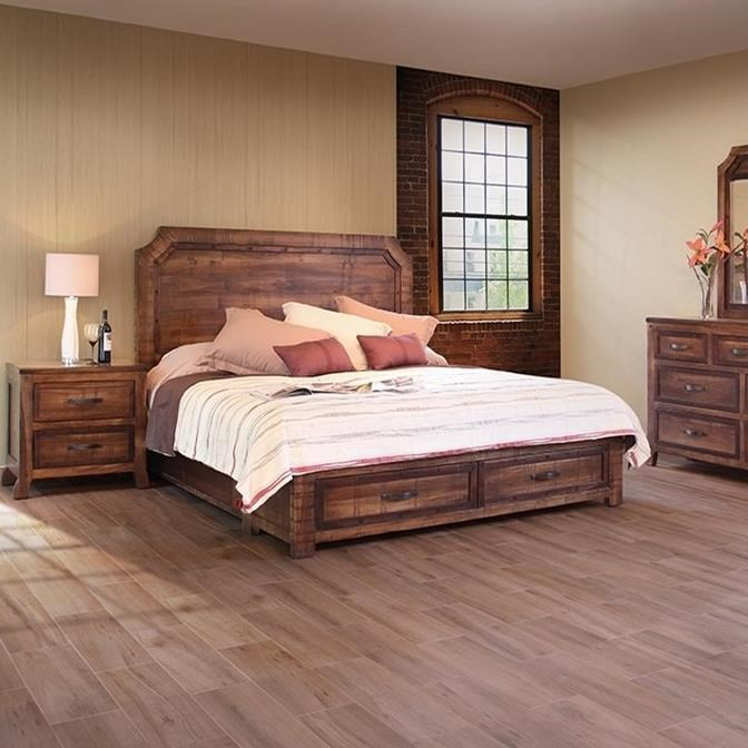 Furnature Direct: International Furniture Direct Regal Rustic Queen Bed With