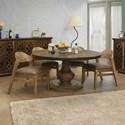 International Furniture Direct Salamanca 5-Piece Dining Set - Item Number: IFD8012RNDTP+BA+4xCHR