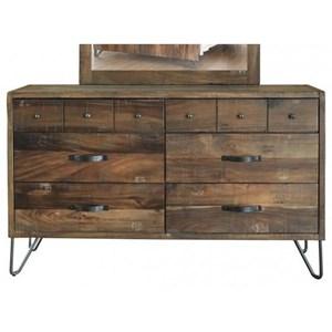 International Furniture Direct Taos Six Drawer Dresser