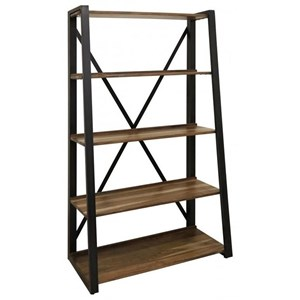 Open Bookcase with Solid Wood Shelves