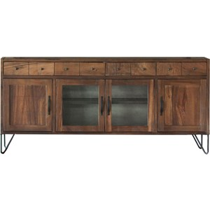 """80"""" TV Stand with 4 Drawers and 4 Doors"""
