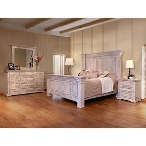 International Furniture Direct Terra White King Bedroom Group