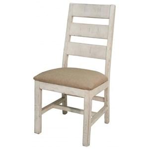 International Furniture Direct Terra White Slat Back Side Chair