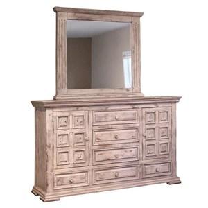 VFM Signature Terra White Dresser and Mirror Set