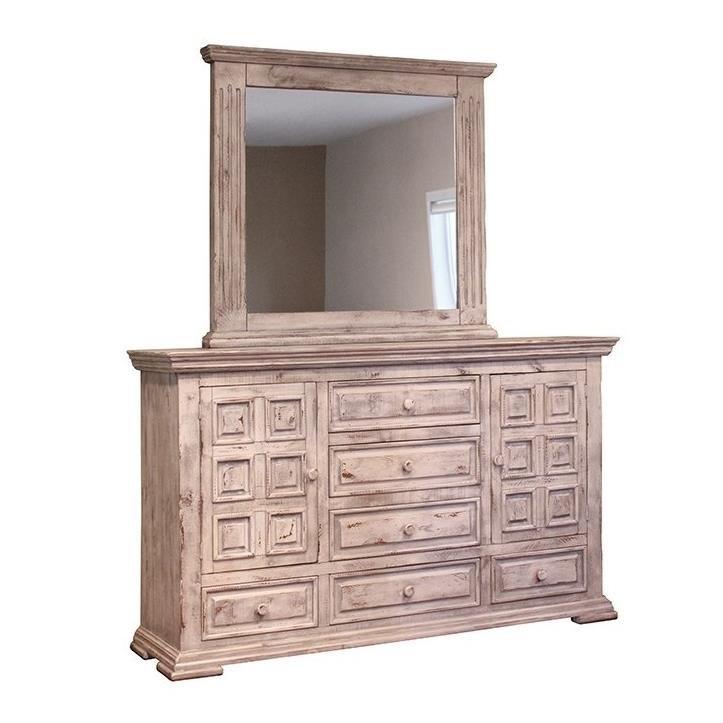 International Furniture Direct Terra White Rustic Dresser