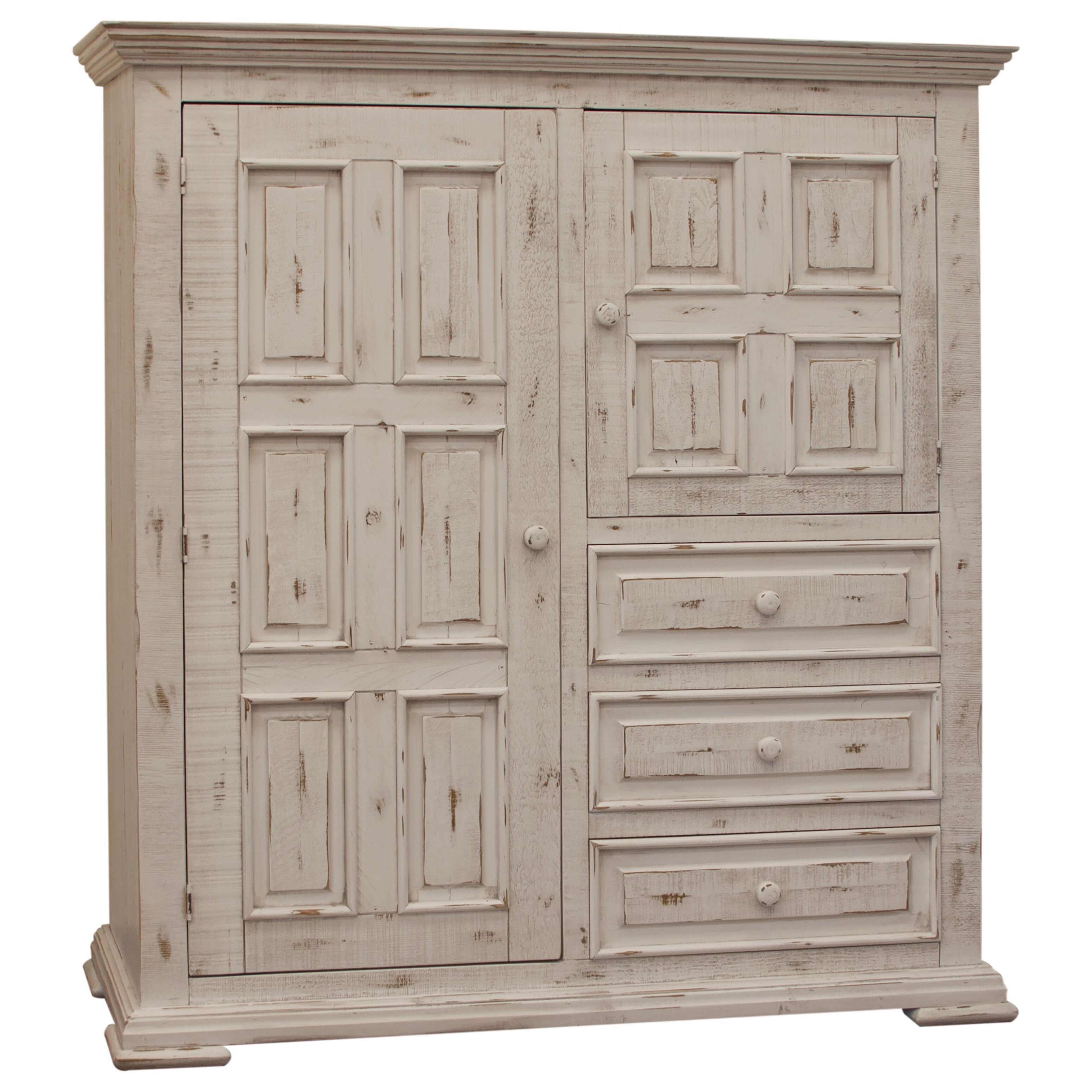 International Furniture Direct Terra White Solid Wood ...