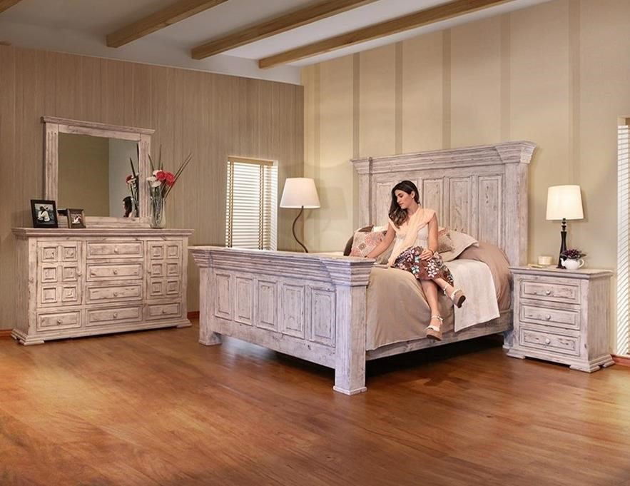 International Furniture Direct Terra White Oversized King