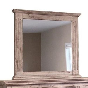 International Furniture Direct Terra White Mirror