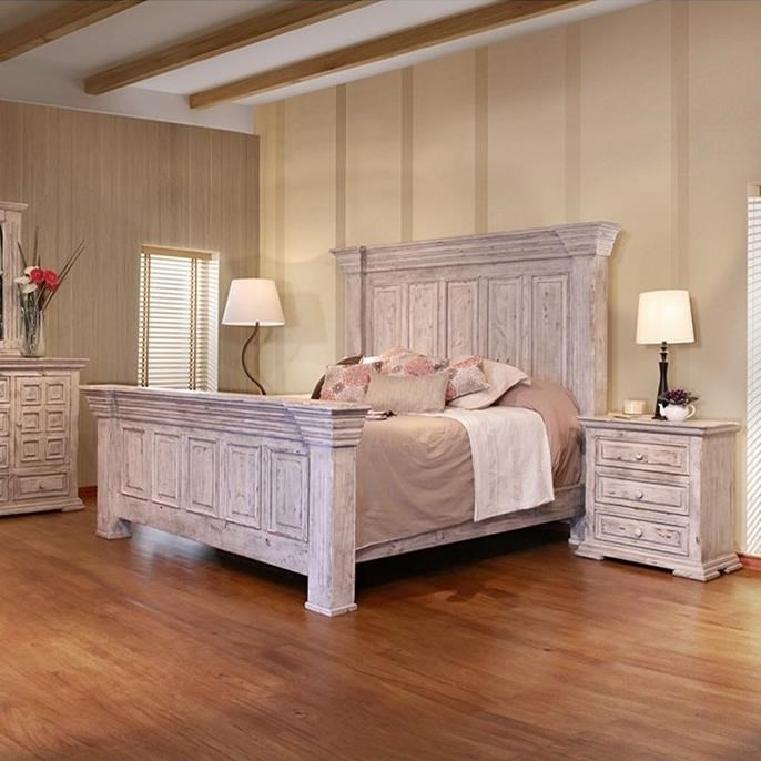 IF Terra White Rustic Nightstand With Distressed Finish