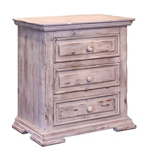 International Furniture Direct Terra White Nightstand