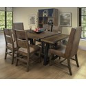International Furniture Direct Urban Art 7-Piece Table and Chair Set - Item Number: IFD5201TBLTP+BA+4xCHR+2x2CHR