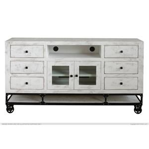 "International Furniture Direct Urban White 70"" TV Stand"