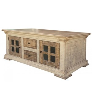 Cocktail Table with 4 Drawers and 4 Doors