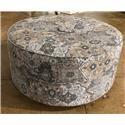 J Furniture 1250 Round Ottoman - Item Number: JFU1250-17