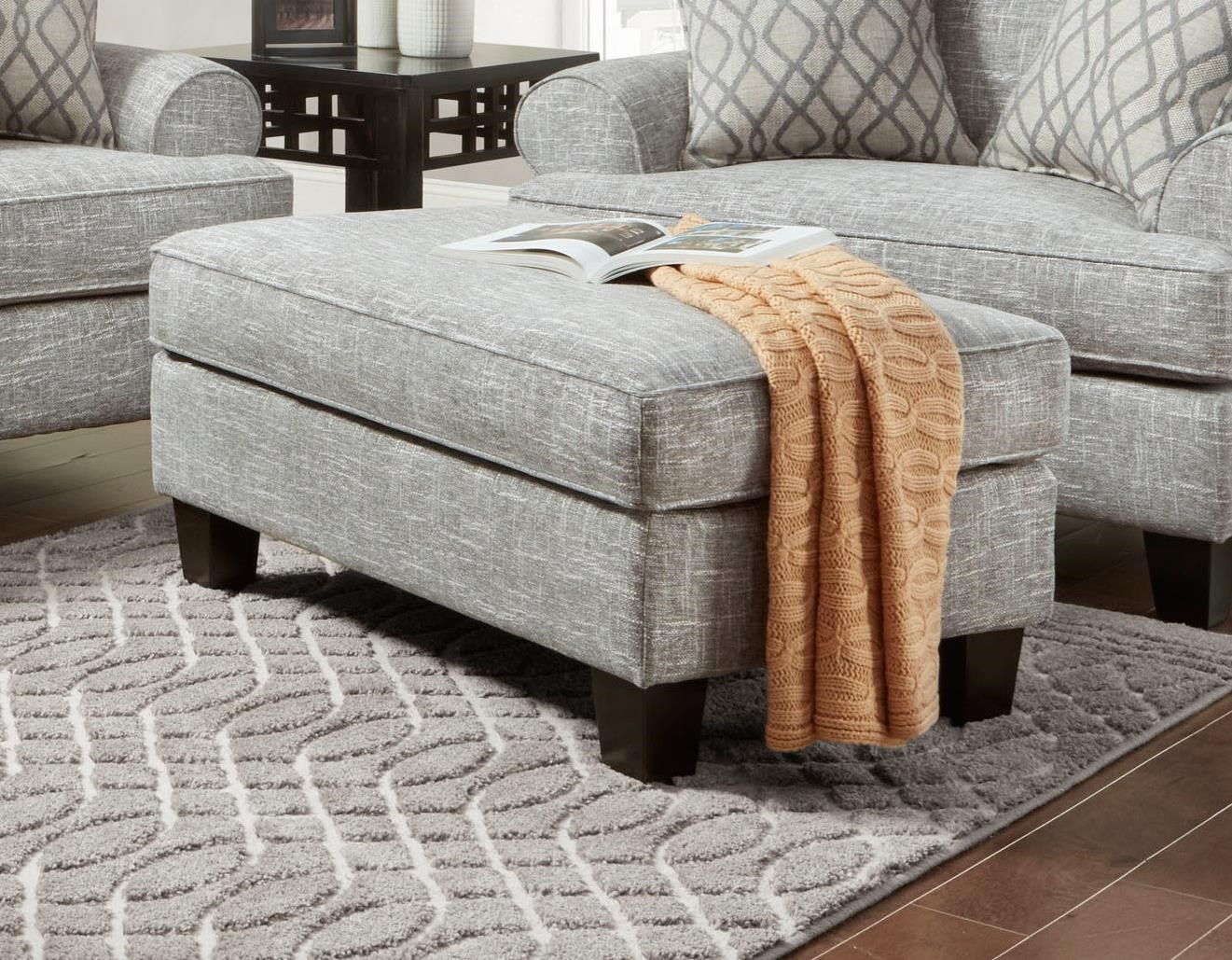 Fenwick 2019 Manchester Ottoman by J Furniture at Johnny Janosik