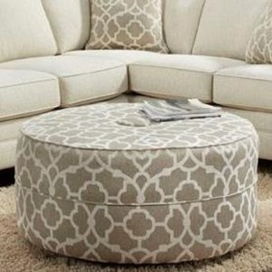 J Henry London Round Cocktail Ottoman
