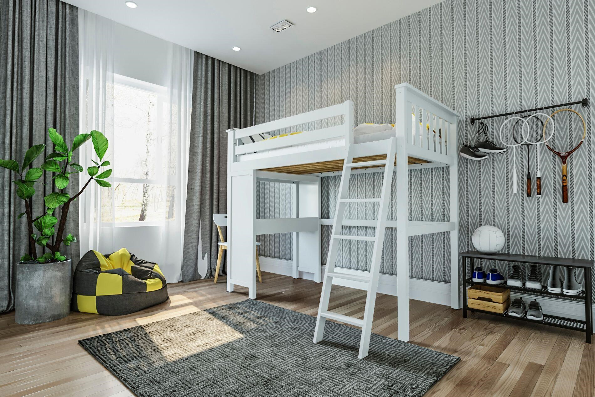 All-In-Ones Canterbury Twin All in One in White by Jackpot Kids at Belfort Furniture