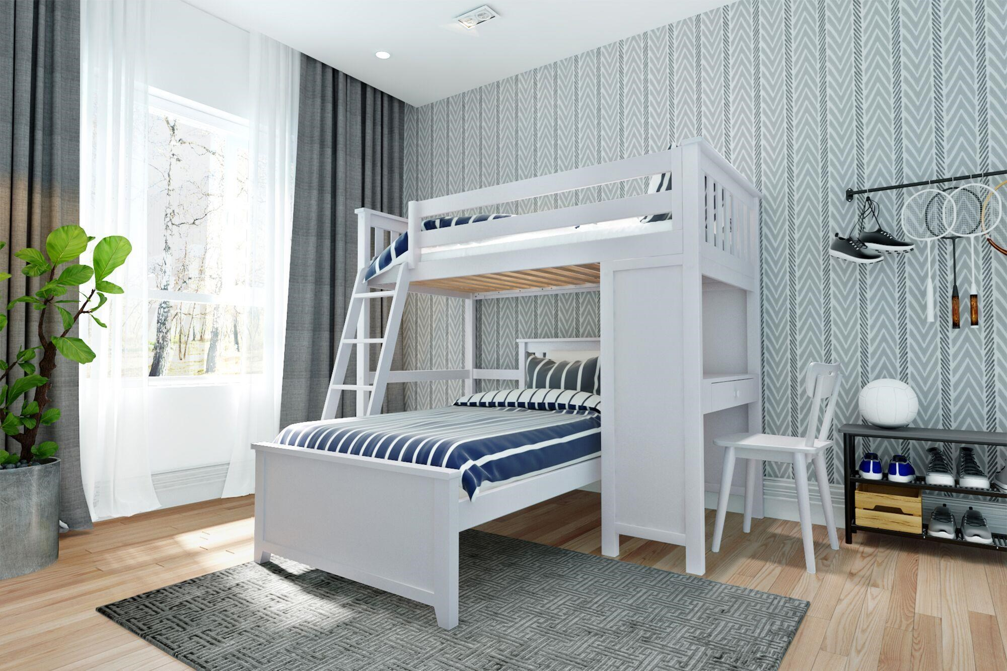 All-In-Ones Canterbury 1 Twin All in One in White by Jackpot Kids at Belfort Furniture