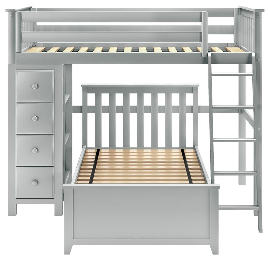 All-In-Ones Edinburgh 1 Twin All in One in Grey by Jackpot Kids at Belfort Furniture