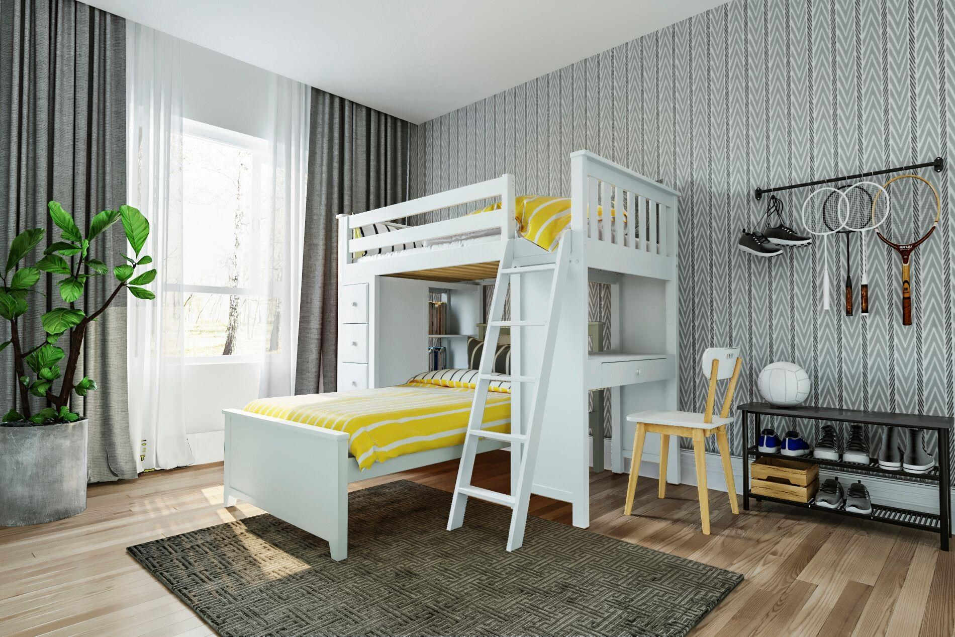 All-In-Ones Kensington 1 Twin All in One in White by Jackpot Kids at Belfort Furniture