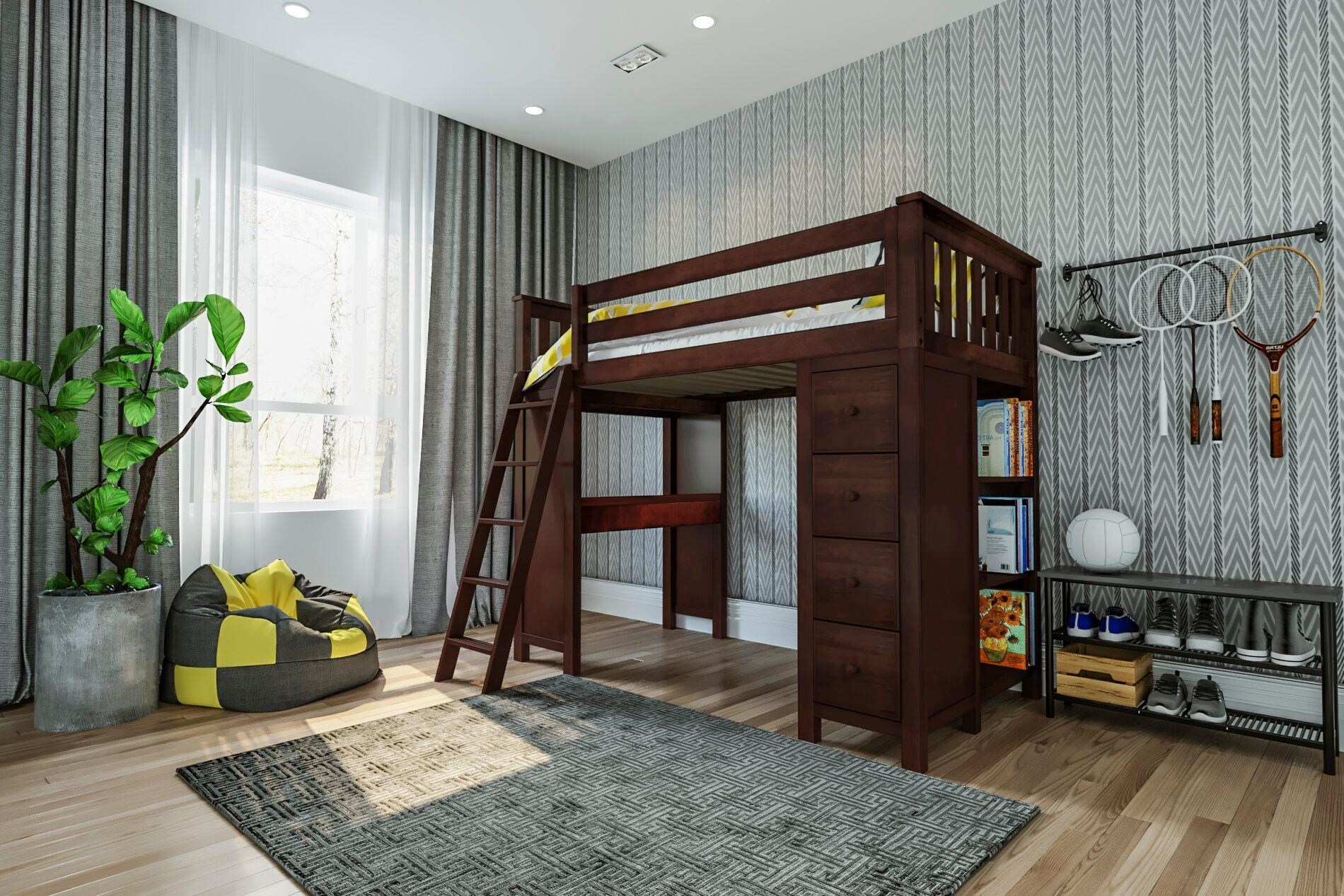 All-In-Ones Kensington Twin All in One in Espresso by Jackpot Kids at Belfort Furniture
