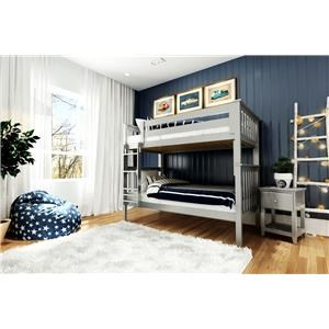 Bristol Twin/Twin Bunk Bed in Grey