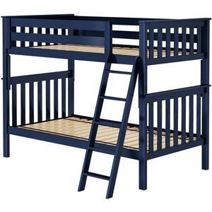 Bristol 1 Twin/Twin Bunk Bed in Blue