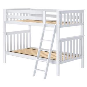 Bristol 1 Twin/Twin Bunk Bed in White