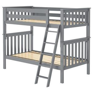 Bristol 1 Twin/Twin Bunk Bed in Grey