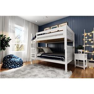Cambridge Full/Full Bunk Bed in White