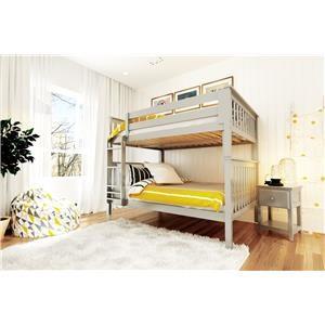 Cambridge Full/Full Bunk Bed in Grey