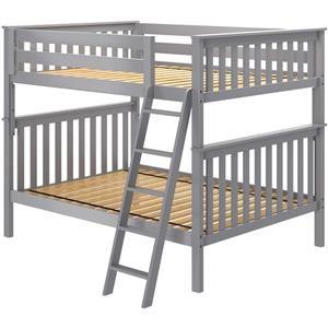 Cambridge 1 Full/Full Bunk Bed in Grey