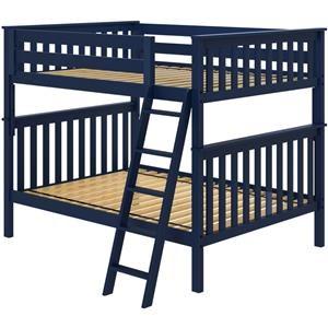 Cambridge 1 Full/Full Bunk Bed in Blue
