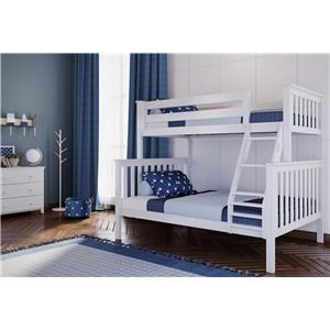Kent Twin/Full Bunk Bed in White