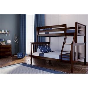 Kent Twin/Full Bunk Bed in Espresso