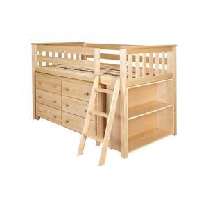 Windsor Low Loft Bed in Natural