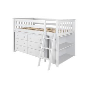 Windsor Low Loft Bed in White