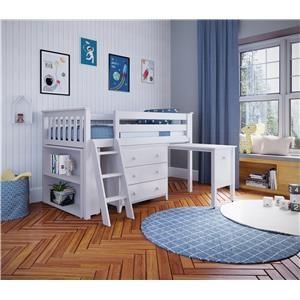 Windsor 2 Low Loft Bed in White