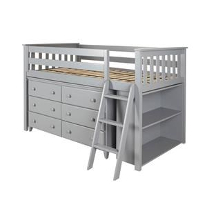 Windsor Low Loft Bed in Grey