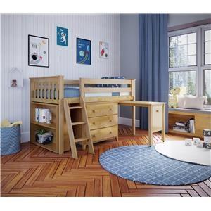 Windsor 2 Low Loft Bed in Natural