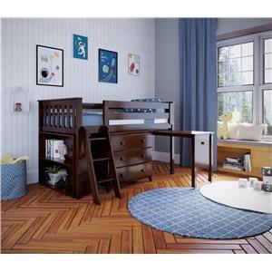 Windsor 2 Low Loft Bed in Espresso