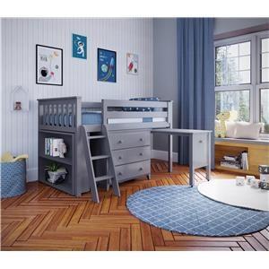 Windsor 2 Low Loft Bed in Grey