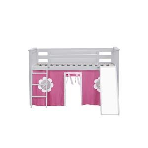 York 11 Low Loft Bed in White