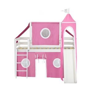 York 12 Low Loft Bed in White