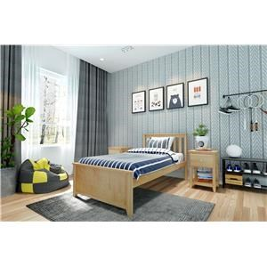 Dublin Twin Single Bed in Natural