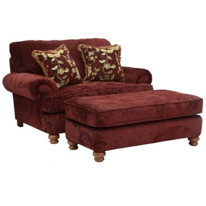 Jackson Furniture Belmont Chair and a Half & Ottoman