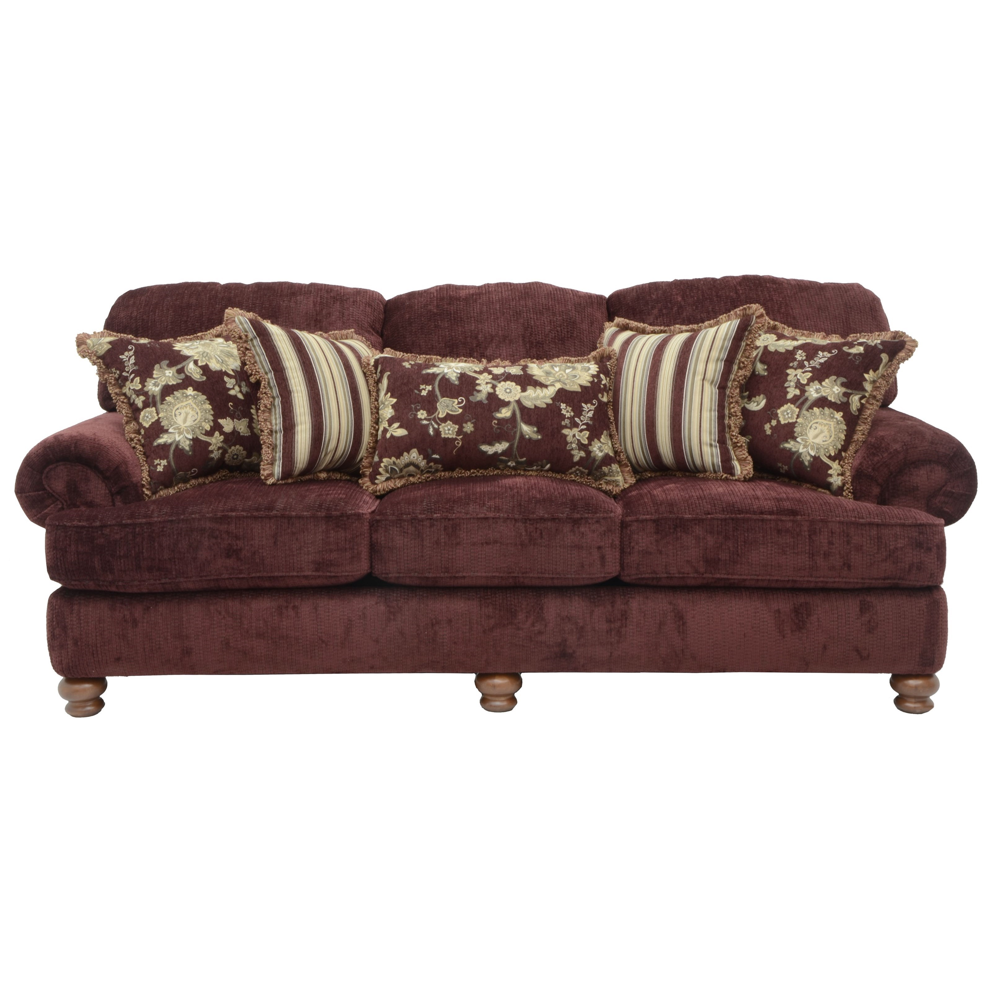 Jackson Furniture Belmont Sofa - Item Number: 4347-03-Belmont-Claret