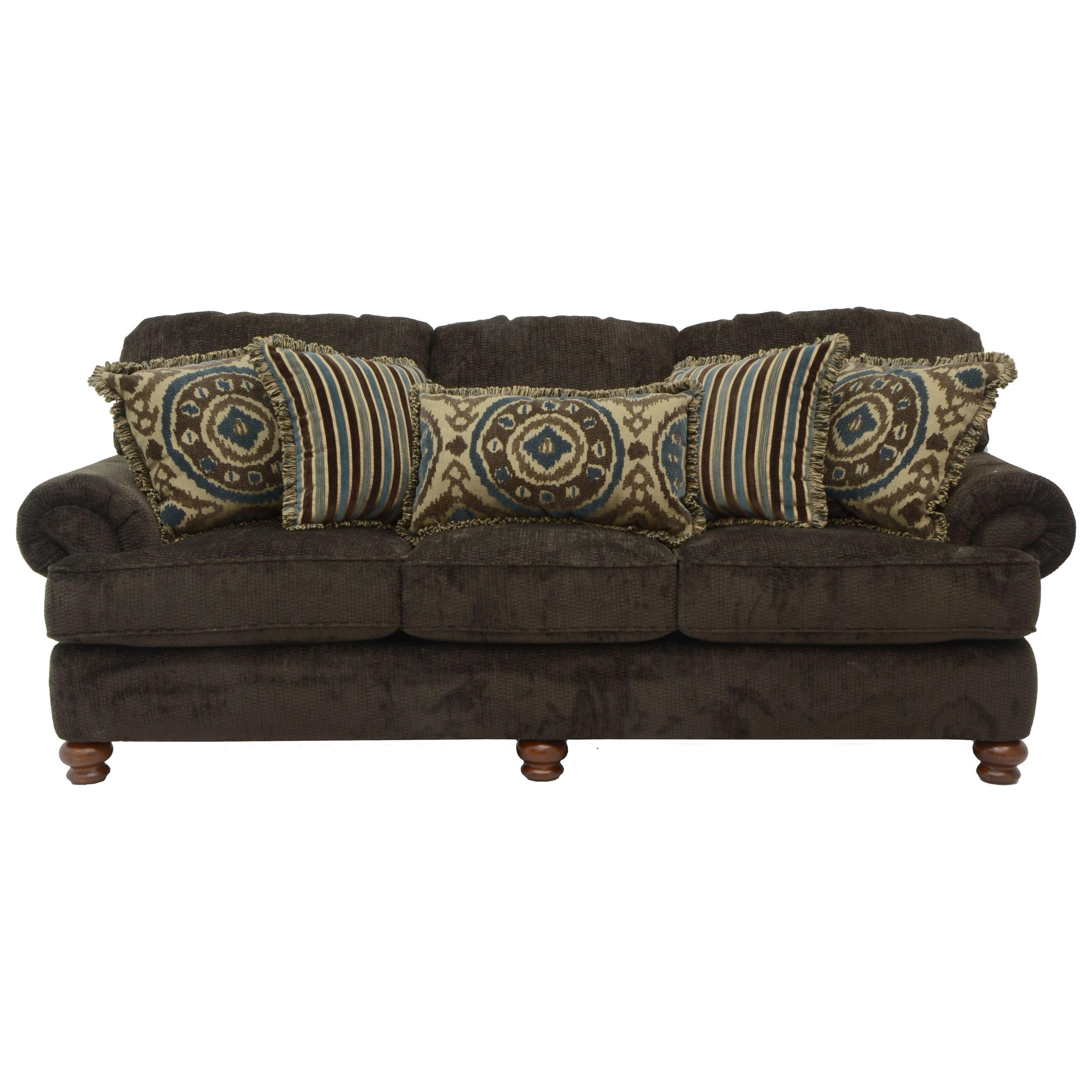Jackson Furniture Belmont Sofa - Item Number: 4347-03-Belmont-Mahogany